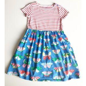 Mini Boden Girls Hopscotch Butterfly Striped Dress
